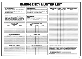 ISM-J10 Emergency Muster List