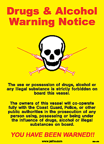 ISM-J40 Drugs & Alcohol Warning