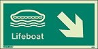 4691G - Jalite Lifeboat Arrow Down Right Sign - IMPA Code: 33.4307 - ISSA Code: 47.543.07