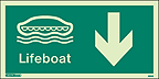 4694G - Jalite Lifeboat Arrow Down Sign - IMPA Code: 33.4309 - ISSA Code: 47.543.09