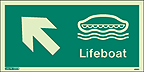 4696G - Jalite Lifeboat Arrow up Left Sign - IMPA Code: 33.4302 - ISSA Code: 47.543.02