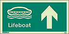 4699G - Jalite Lifeboat Arrow up Sign - IMPA Code: 33.4301 - ISSA Code: 47.543.01