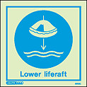 5505C - Jalite lower liferaft Sign - IMPA Code: 33.5104 - ISSA Code: 47.551.04