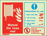 6395D - Jalite Manual Fire Hose Reel Sign