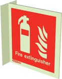 6490FS15 - Jalite Fire Extinguisher Location Sign
