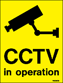 W9088DS - Jalite CCTV in operation Mirror Printed Double sided Sign